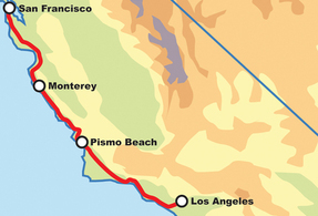 Pacific Coast Highway San Francisco to Los Angeles Motorcycle Tour