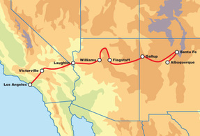 Route 66 East: Los Angeles to Albuquerque Motorcycle Tour