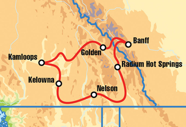Kamloops British Colombia Motorcycle Tour