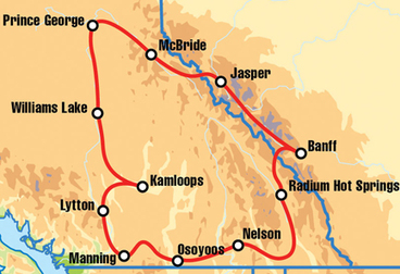 Kamloops Canadian Motorcycle Tour