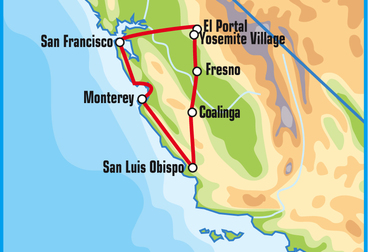 Central California Motorcycle Tour