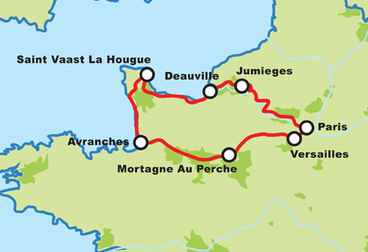 Paris to Normandy Motorcycle Tour