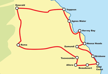 Brisbane - Coast & Country QLD Guided Motorcycle Tour