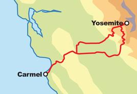 Carmel / Yosemite Motorcycle Tour