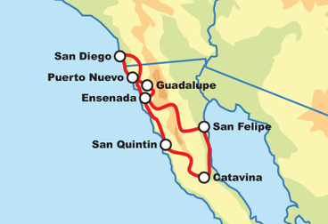 8-Day Baja Dual Sport Adventure Tour (on/off road)