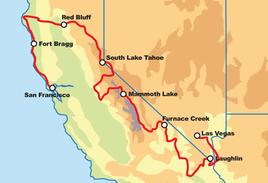 San Francisco to Las Vegas  Road Trip