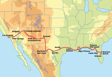 Coast to Coast Motorcycle Road Trip Across America