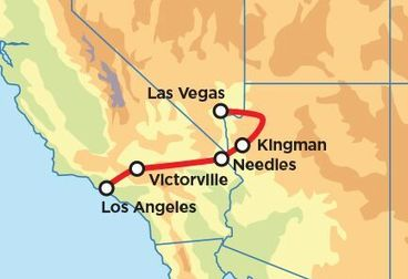 Route 66 Explorer Motorcycle Road Trip - Los Angeles to Las Vegas