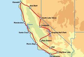 Kalifornien Entdecken Motorrad Road Trip