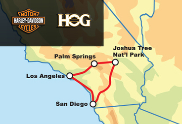 SoCal Highlights Guided Tour - Harley Owners Group - Members Only