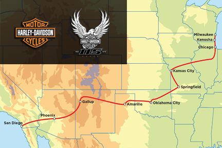 Harley-Davidson 115th Anniversary Tour - 15-Day San Diego to Milwaukee