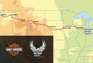 Harley-Davidson 115th Anniversary Tour - 15-Day Seattle to Milwaukee HOG