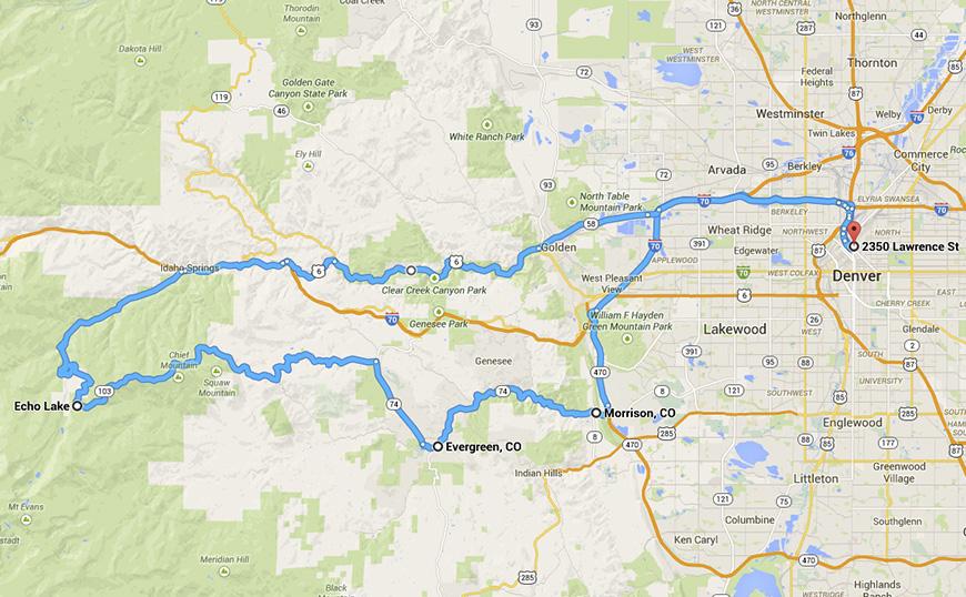 Mt Evans Road to Echo Lake Mt Evans and Idaho Springs Motorcycle