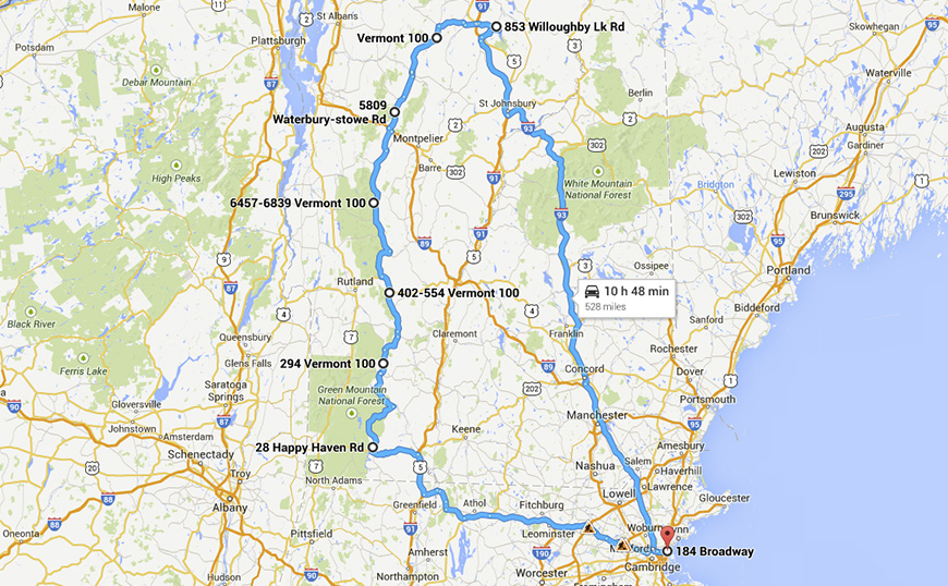 Route 100 in Vermont Motorcycle Ride EagleRider