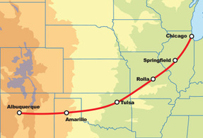 Route 66 West Chicago to Albuquerque Bike + Hotel Package
