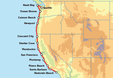 Pacific Coast Tour™ Guidati Motorcycle Tour