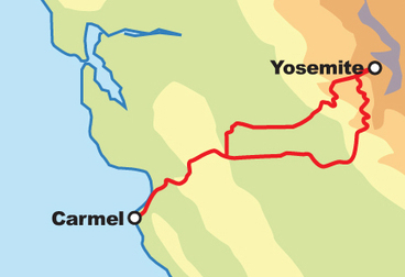 Carmel / Yosemite Motorcycle Tour Самостоятельные Motorcycle Tour