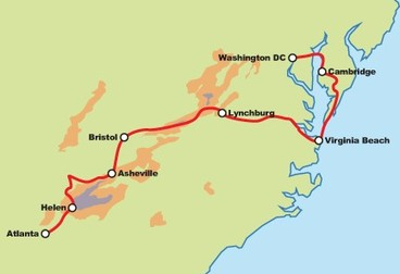 Blue Ridge Mountains to Monuments Motorcycle Tour