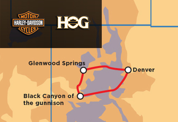 Tour guidato del Colorado e del Black Canyon of the Gunnison Harley Owners Group - solo soci
