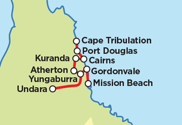 Cairns Select -  Reef Rainforest and Outback  Guidati Motorcycle Tour