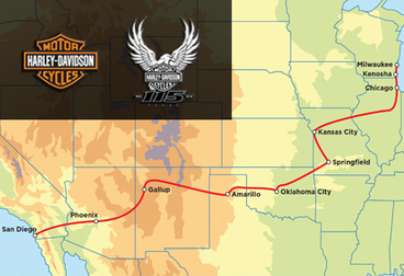 Harley-Davidson 115th Anniversary Tour - 15-Day San Diego to Milwaukee HOG