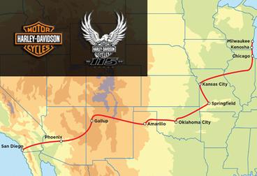 ハーレーダビッドソン115周年ツアー:15日間サンディエゴからミルウォーキー