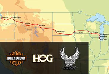 Harley-Davidson 115th Anniversary Tour - 15-Day Seattle to Milwaukee HOG