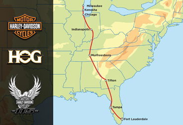 Harley-Davidson 115th Anniversary Tour - 12-Day Fort Lauderdale to Milwaukee - HOG