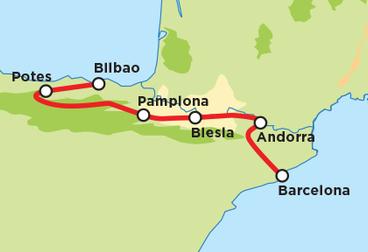 Spanish Picos and Pyrenees Mountains Tour
