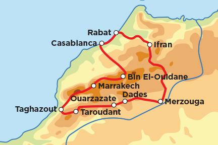 Mappa del Tour